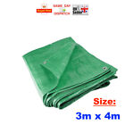 1x - 3m x 4m Heavy Duty Green Tarpaulin Waterproof Cover Ground Sheet FAST CHEAP