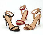 Womens Ladies High Heel Sandals Peep Toe Ankle Strap Stiletto Party Shoes Size