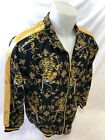 MENS VICTORIOUS TRACK JACKET Urban ZIP UP BLACK and GOLD TIG