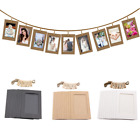 10x DIY Paper Photo Wall Hanging Picture Photo Frame Album Rope Clip Home Decor