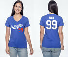 Hyun-jin Ryu Los Angeles Dodgers #99 MLB Jersey Style Women's Graphic T on Ebay