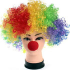 Party Disco Rainbow Afro Clown Hair Football Fan Adult Child Costume Curly Wig ,