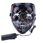 Halloween Scary Mask Cosplay Led Costume Mask EL Wire Light Up The Purge CA