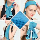 Ice Cold Sport Cooling Towel Outdoor Neck Pad Headband Cooler Light Blue  image
