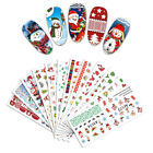 2 Sheets Christmas Nail Water Decals Snowmen DIY Nail Art Decoration