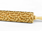 Engraved rolling pin wooden laser cut ANY PATTERN cookies embossed embossing pin