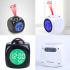 Multi-Function Projection Clock LED Voice Digital Time Temperature Display New