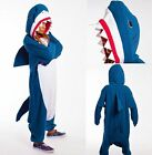 US Adult Unisex Pajamas Kigurumi Cosplay Costume Animal Onesi1 Sleepwear Shark