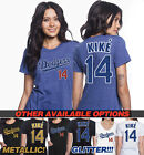 Kike´ Hernandez Los Angeles Dodgers #14 METALLIC OR GLITTER!! Women's T Shirt on Ebay