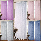 "2PC VERTICAL RUFFLES VOILE SHEER WINDOW WATERFALL CURTAIN PANEL 55""W X 84""LONG"