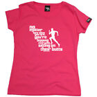 Running Tops T-Shirt Funny Novelty Womens tee TShirt - No Matter How Slow You Ar