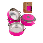 Portable Dog & Pet Travel Bowls with Lid Human Grade Beautiful Stainless Steel