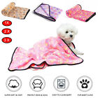 Pet Small Large Blanket Warm Fleece Paw Print Dog Puppy Pig Cat for Soft Bed Mat