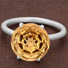 Natural Golden Citrine 925 Sterling Silver Ring Jewelry Size 6-9 DGR6002_E