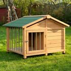Sylvan Special Dog Wooden Outdoor Kennel House Home Roofed Porch - Medium/Large
