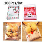 100Pcs Christmas Theme Snack Biscuits Cookie Packaging Bags Self-adhesive Eager