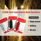 Fashion 120dB Anti-rape Device Dual Speakers Loud Alarm Alert Keychain Pendant C