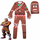 Boys Girls Fortnite Costume Cosplay Christmas Fancy Dress Kids Jumpsuit Age 4-18 <br/> UK Stock 1st Class Post Same Day Dispatch Order by 3pm
