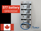 Energizer Watch Battery 377 SR626SW AG4 Silver Oxide Button Cell