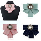 Внешний вид - 1Pc Women Bow Tie Fashion Necktie Rhinestone Decor Novelty Cloth Accessories