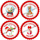 Personalised Christmas Stickers for Gifts / Sweet cones / party bags etc - 08-01