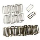 [PF] Rectangular Belt Buckle 20pcs Regulator Metal Wire Diy Belt Package