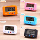 2.7 Small LCD Digital Time & Date Alarm Clock Stop Snooze Night Light Kitchen S