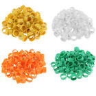100pcs 20mm Clip Plastic Numbered Pigeon Leg Bands Duck Chicken Goose Rings