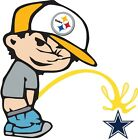 Pittsburgh Steelers Piss On Dallas Cowboys Vinyl Decal CHOOSE SIZES $21.49 USD on eBay
