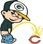 Green Bay Packers Piss On Chicago Bears Vinyl Decal CHOOSE SIZES $8.99 USD on eBay