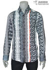 Mondo Men's Fashion exclusive SNAKE PRINT with  multicolor LONG SLEEVE SHIRT