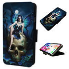 Gothic Fairy Skull - Flip Phone Case Wallet Smart Cover Fits Iphone & Samsung