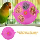 Parrot Toy Bird Eater Cage Food Snack Wheel Feeder Foraging Purple and Blue
