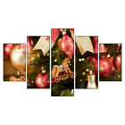 Christmas Santa Claus 5PCS HD Canvas Print Home Decor Picture Wall Art Painting