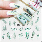 5 Sheets Nail Water Decals Flower Leaf Geometry Transfer Stickers Nail Tips