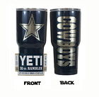 (YETI OR RTIC) Dallas Cowboys (Laser Engraved 30 oz) Powder Coat NO VINYL on eBay