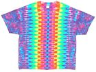 Adult TIE DYE Neon Rainbow DNA T Shirt art 5X 6X hippie furthur grateful dead