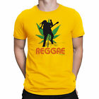 Mens T-Shirt REGGAE Singer Peace Rasta Guitar Drum Jamaican Dance Music Novelty
