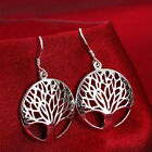 925 Silver Family Wish Tree Jewelry Sets Necklace Earrings For Women's Gifts New