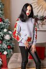 "Women's sweatshirt ""Rose garland"". Grey"