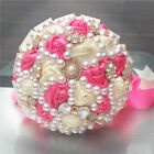 Wedding Bouquet Handmade Flower Decor Diamond Pearls Bridal Holding Bouquets