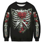Ugly Christmas Sweater Womens Mens Long Sleeve Sweatshirt Santa Elf Xmas Tops US