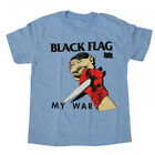 Black Flag T-Shirt My War Blue Punk Band Tee New Authentic S-2XL image
