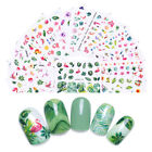 8Sheets LEMOOC Nail Art Water Decals Summer Theme Transfer Nails Stickers Tips