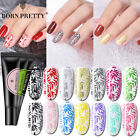 8ML BORN PRETTY Nail Stamping UV Gel Polish Black White Silver Gel Nail