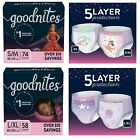 GoodNites Bedtime Underwear for Boys & Girls (Choose Your Size) *FREE SHIPPING*