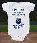Kansas City Royals Onesie Bodysuit Shirt Love Watching WIth Daddy on Ebay