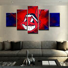 Framed 5 Panel Cleveland Indians Canvas HD Prints Painting Wall Art Home Decor on Ebay