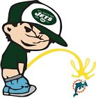 New York Jets Piss on Miami Dolphins Vinyl Decal - Choose Your Size $24.99 USD on eBay