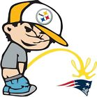 Pittsburgh Steelers Piss On New England Patriots Vinyl Decal - YOU CHOOSE SIZES on eBay